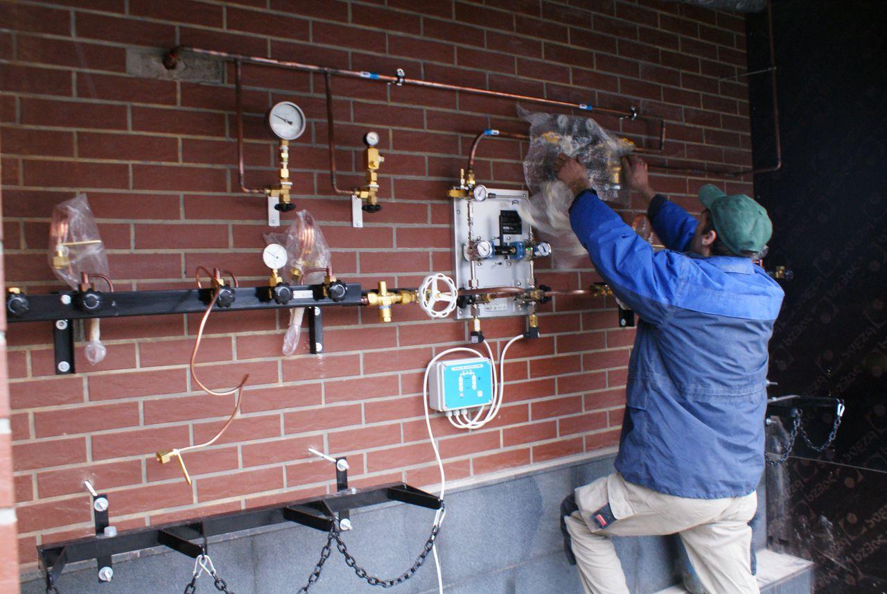 Монтаж газовых систем